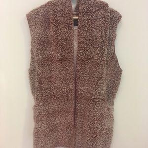 NWT Love Tree Faux Fur Wine Colored Vest